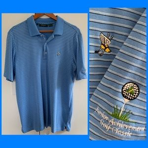 Bobby Jones | Winged Foot Striped Golf Polo